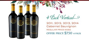 4-Pack Cab 750ml Holiday Vertical (11/12/13/14)